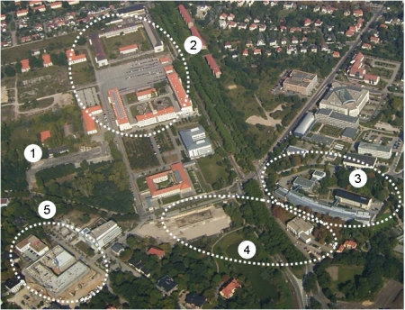 Aerial view weinberg campus.